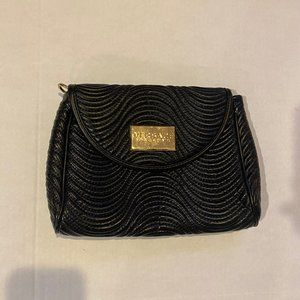 VERSACE PARFUMS Large Black Quilted Evening Bag
